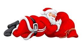 Sonno del Babbo Natale Fotografia Stock Libera da Diritti