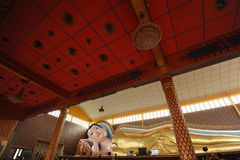 Sonno del Buddha Fotografia Stock