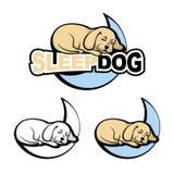 Sonno del cane sulla luna illustrazione vettoriale