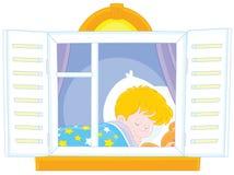 Sonno del ragazzino royalty illustrazione gratis
