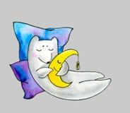 Sonno dell'orso bianco royalty illustrazione gratis