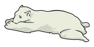 Sonno dell'orso polare royalty illustrazione gratis