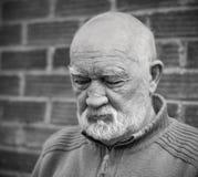 Sonno dell'uomo anziano Fotografia Stock Libera da Diritti