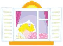 Sonno della bambina royalty illustrazione gratis