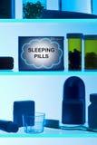 sonno delle pillole Fotografie Stock Libere da Diritti