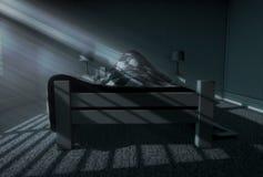 Sonno di luce della luna dentro Fotografia Stock Libera da Diritti