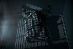 Sonno di luce della luna dentro Fotografie Stock Libere da Diritti