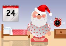 Sonno di Santa Claus Fotografia Stock