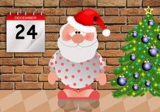 Sonno di Santa Claus Fotografia Stock Libera da Diritti