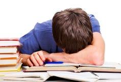Sonno faticoso dell'allievo Fotografia Stock Libera da Diritti