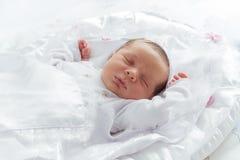 Sonno poco neonato Fotografia Stock