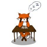 Sonno stanco della volpe Immagine Stock