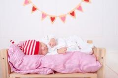 Sonno sveglio del bambino Fotografia Stock