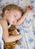 Sonno sveglio della ragazza del bambino Fotografia Stock