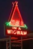 Sonno in un wigwam Fotografie Stock