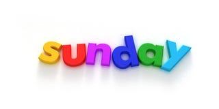 Sonntag lizenzfreie abbildung