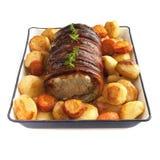 Sonntag rollte Schweinefleischbraten Lizenzfreies Stockbild