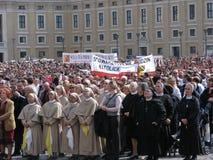 SonntagAngelus von Papst Benedikt XVI, Vatican Stockfotos