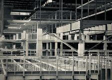 SoNo Collection Construction. Perhaps the last indoor shopping mall being built in the United States? Located in Norwalk Connecticut, the SoNo Collection is royalty free stock image