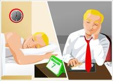 Sono do homem de negócios Ilustração do Vetor