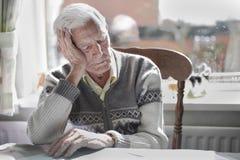 Sono do homem idoso Foto de Stock Royalty Free