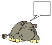 Sono e sonhos do hipopótamo Imagens de Stock
