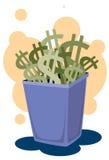 Sono i vostri soldi in roba di rifiuto? Immagine Stock