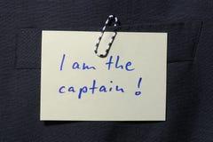 Sono il capitano Fotografie Stock Libere da Diritti