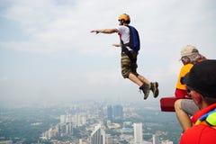 Sono inizio da saltare e sono libero Fotografia Stock Libera da Diritti