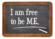 Sono libero di essere ME Immagine Stock