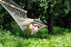 Sono no hammock fotos de stock