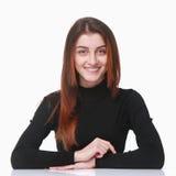 Sono pronto a parlare (linguaggio del corpo, gesti, psicologia) Fotografia Stock