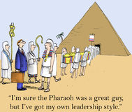Sono sicuro che il Pharaoh era un grande tirante Fotografia Stock Libera da Diritti