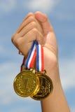 Sono vincitore! Fotografie Stock