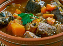 Sonofabitch stew. Sonofabitch beef  stew -  cowboy dish of the American West Royalty Free Stock Photos