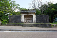 Sonohyan Utaki Shrine of Shuri Castle, Japan. It was designated as a UNESCO World Heritage Site Royalty Free Stock Image