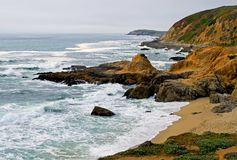 Sonoma Coast, Bodega Bay California. Overcast day stock image