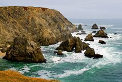 Sonoma Coast, Bodega Bay California. Overcast day royalty free stock photography