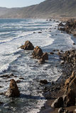 Sonoma Coast 1. The Pacific Ocean continually erodes the rugged and rocky coast of Northern California. These cold waters along the Sonoma coast support diverse stock image