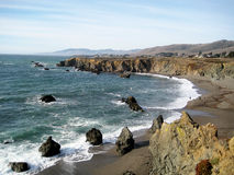 Sonoma Coast State Beach (California). Beach in Sonoma Coast State Park (California Royalty Free Stock Photography