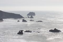 Sonoma Coast State Park -  northwestern Sonoma County, California. Is the mouth of the Russian River, and the southern end of this crescent shaped expanse is Stock Photos