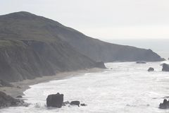 Sonoma Coast State Park -  northwestern Sonoma County, California. Is the mouth of the Russian River, and the southern end of this crescent shaped expanse is Stock Photography