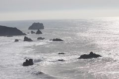 Sonoma Coast State Park -  northwestern Sonoma County, California. Is the mouth of the Russian River, and the southern end of this crescent shaped expanse is royalty free stock photography