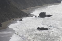 Sonoma Coast State Park - northwestern Sonoma County, California. Is the mouth of the Russian River, and the southern end of this crescent shaped expanse is stock image