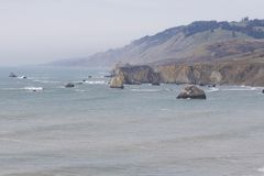 Sonoma Coast State Park -  northwestern Sonoma County, California. Is the mouth of the Russian River, and the southern end of this crescent shaped expanse is Stock Images