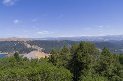 Sonoma Reservoir. Lake Sonoma in northern Sonoma County provides drinking water and a recrational area Stock Photo