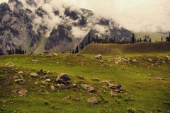 Sonomarg in Kashmir. One of most beautiful valley in Kashmir. India stock photo