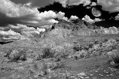 Sonora Desert Moon. Moon rising Sonora desert in central Arizona USA Royalty Free Stock Photography
