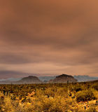 Sonora Desert Mountains. In central Arizona USA Royalty Free Stock Photo