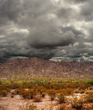 Sonora Desert Mountains. Storm forming Sonora desert mountains in central Arizona USA Stock Photography